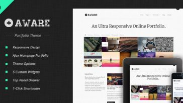 Download Aware - Responsive Wordpress Portfolio Theme Free