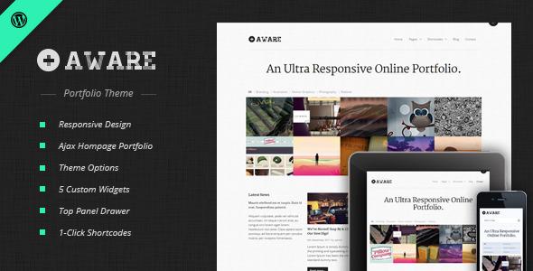 Download Aware - Responsive Wordpress Portfolio Theme Free