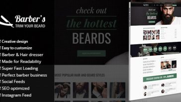 Download Barber - WordPress Theme for Barbers & Hair Salons Free