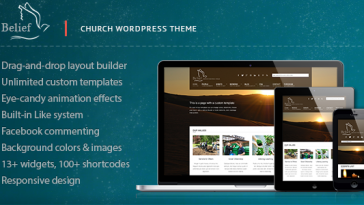 Download Belief - Church WordPress Theme Free