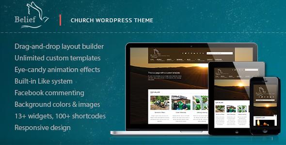 Download Belief  - Church WordPress Theme Free