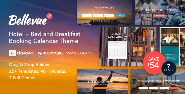 Download Bellevue - Hotel + Bed and Breakfast Booking Calendar Theme Free