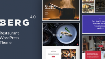 Download BERG - Restaurant WordPress Theme Free