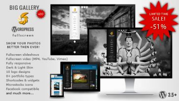 Download BIG Gallery WP - Fullscreen Photography/Portfolio Free