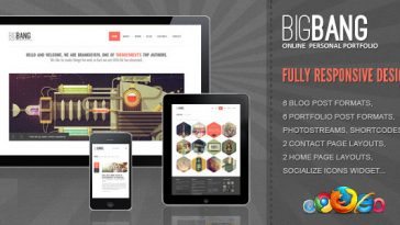 Download Bigbang - Responsive WordPress Template Free