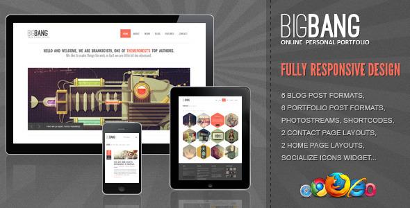 Download Bigbang  - Responsive WordPress Template Free