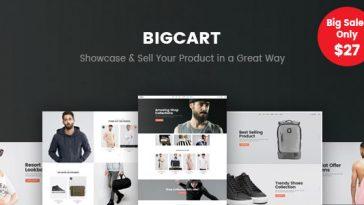 Download Bigcart v.3.4.4 - Clean, Modern WordPress Theme for WooCommerce Free