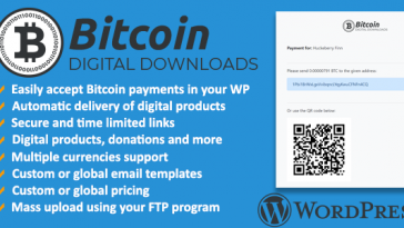 Download Bitcoin Digital Downloads and Terminal Wordpress Plugin  - Free Wordpress Plugin