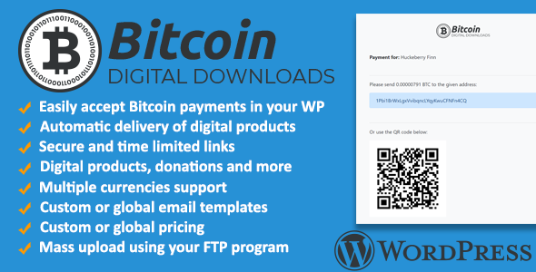 Download Bitcoin Digital Downloads and Terminal Wordpress Plugin   - Free Wordpress Plugin
