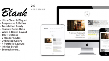 Download Blank v.2.5 - Elegant Minimalist WordPress Blog Theme Free
