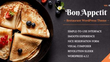 Download Bon Appetit - Restaurant WordPress Theme Free