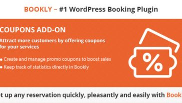 Download Bookly Coupons (Add-on)  - Free Wordpress Plugin