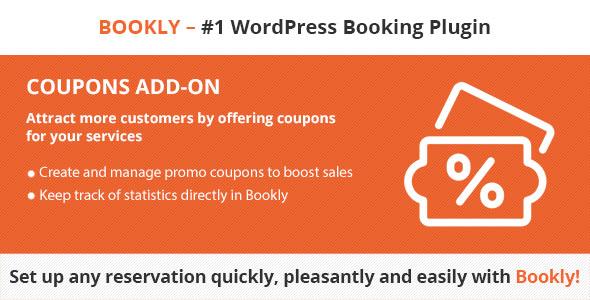 Download Bookly Coupons (Add-on)  - Free Wordpress Plugin