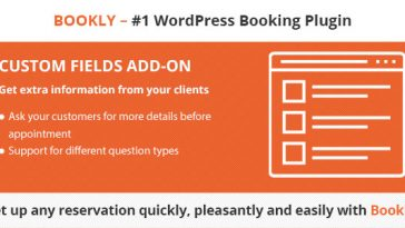 Download Bookly Custom Fields (Add-on)  - Free Wordpress Plugin