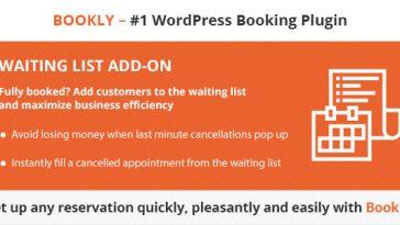 Download Bookly Waiting List (Add-on)  - Free Wordpress Plugin