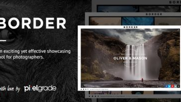 Download BORDER - A Delightful Photography WordPress Theme Free
