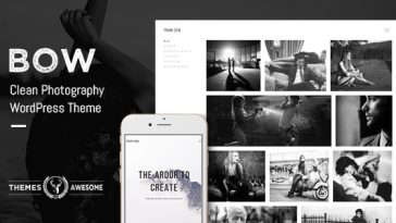 Download Bow v.1.8 - Clean Photography Portfolio Theme Free