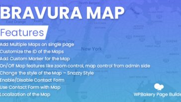 Download Bravura Map for WPBakery Page Builder  - Free Wordpress Plugin