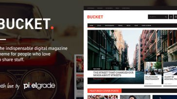 Download BUCKET - A Digital Magazine Style WordPress Theme Free