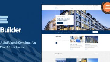 Download Builder v.1.3.2 - Building & Construction WordPress Theme Free