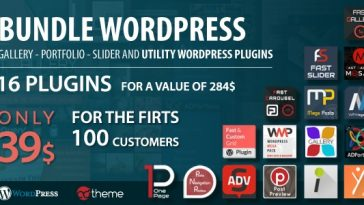 Download Bundle WordPress gallery, portfolio, slider and utility WordPress plugins  - Free Wordpress Plugin