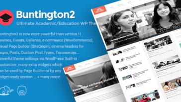 Download Buntington - Education WP Theme Free