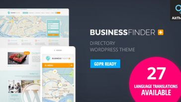 Download Business Finder - Directory Listing WordPress Theme Free