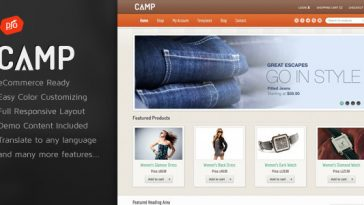 Download Camp v.4.4 - Responsive eCommerce Theme Free
