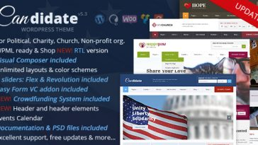 Download Candidate v.5.5.4 - Political/Nonprofit/Church WordPress Theme Free