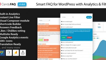 Download Candy FAQ Smart WordPress FAQ with Analytics and Instant Search - Free Wordpress Plugin