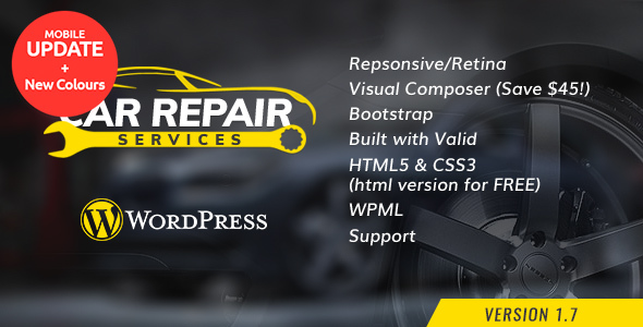 Download Car Repair Services & Auto Mechanic v.1.6 - WordPress Theme Free