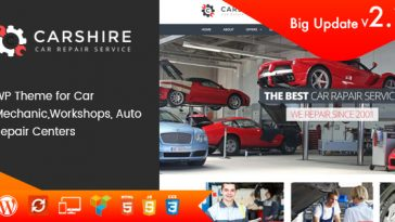 Download Car Shire v.2.1 - Auto Mechanic & Car Repair WordPress Theme Free