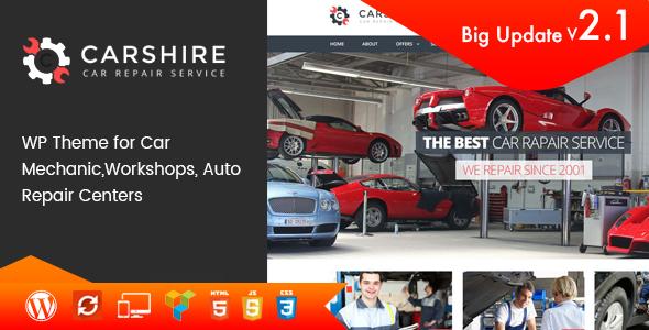 Download Car Shire v.2.1 - Auto Mechanic & Car Repair WordPress Theme Free