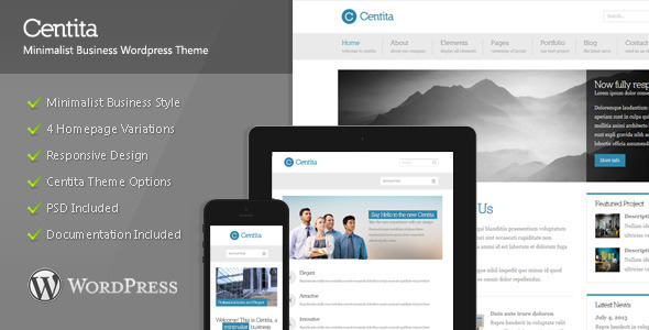 Download Centita  - Minimalist Business Wordpress Theme Free