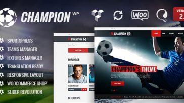 Download Champion - Soccer & Football WordPress Theme Free