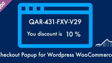 Download Checkout Popup Get Coupon Code with Discount for the Next Order - Free Wordpress Plugin