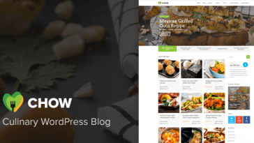 Download Chow v.1.2.1 - Recipe & Food WordPress Theme Free