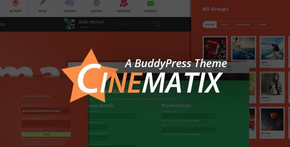 Download Cinematix - BuddyPress Community Theme Free