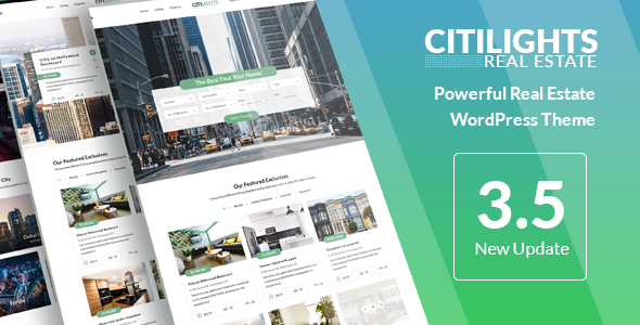 Download CitiLights - Real Estate WordPress Theme Free