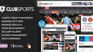 Download Club Sports - Events and Sports News Theme Free