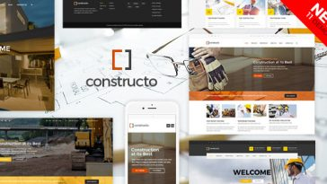 Download Constructo - Construction WordPress Theme Free