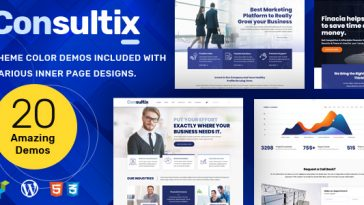 Download Consultix v.5.5.1 - Business Consulting Theme for Business Agency Free