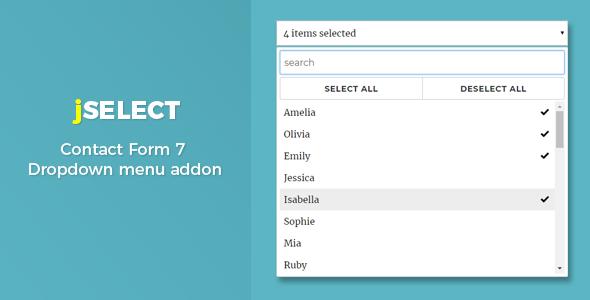 Download Contact Form 7  jSelect dropdown menu - Free Wordpress Plugin