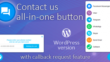 Download Contact us all-in-one button with callback request feature for WordPress  - Free Wordpress Plugin