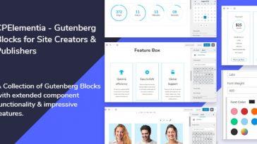 Download CPElementia Gutenberg Blocks for Site Creators - Free Wordpress Plugin