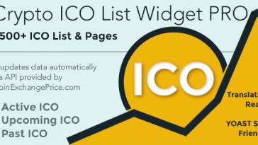 Download Crypto ICO List Widgets Pro WordPress ICO Database Plugin - Free Wordpress Plugin