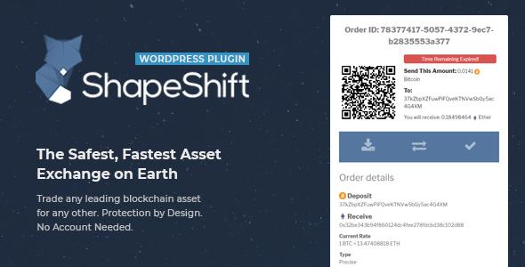 Download Cryptocurrency exchange ShapeShift - Free Wordpress Plugin
