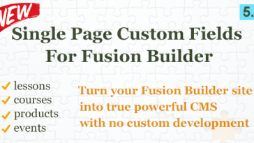 Download Custom Field Element for Fusion Builder  - Free Wordpress Plugin
