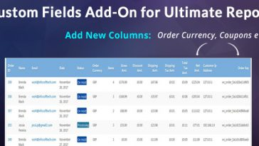 Download Custom Fields Add-on For WooCommerce Ultimate Reports  - Free Wordpress Plugin