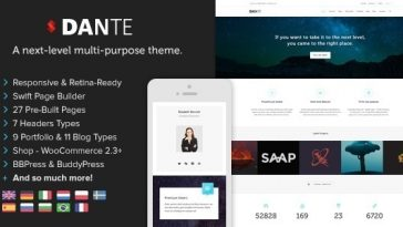 Download Dante - Responsive Multi-Purpose WordPress Theme Free